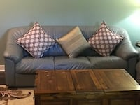 2 beautiful Italian grey leather couches Lincolnshire, 60069