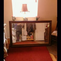Large wooden mirror Colton