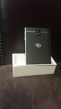 black BlackBerry phone
