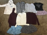Junior Girls Size XS & S - 10 pc.  (Top Row S) (5 American Eagle, 3 Aeropostale) - 83rd & K7, XP Lenexa, 66227