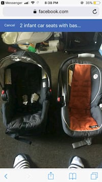 2 infant car seats barely used Winchester, 22601