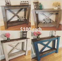 Handmade sofa console entry farmhouse table