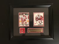 Steve Yzerman framed hockey cards and pin.   Toronto, M8V 1E5