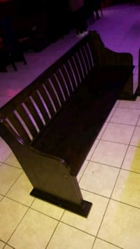 brown wooden bed frame with purple mattress Hamilton, L8M 1H9