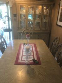 brown wooden framed glass-top coffee table 757 mi