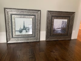Framed Paris Prints/ nice Frames