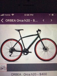 black and red hardtail mountain bike Vancouver, V6A 4A1