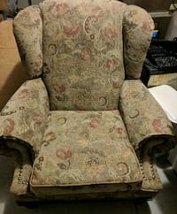brown and beige floral sofa chair Beaumont, 92223
