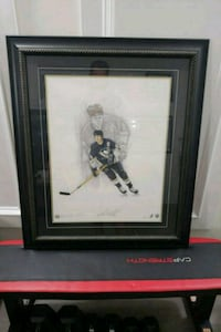 Mario lemieux with frame  Vancouver