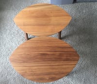 Ikea Stockholm set of two side/coffee tables