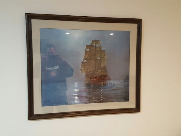 Used 2 Foot By 3 Picture Frame Of A Ship Signed For In Lebanon Letgo