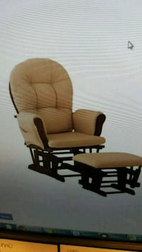 brown wooden glider chair with ottoman Vancouver, V5Z 1M9