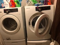 White front-load washer and dryer set Fayetteville, 28301