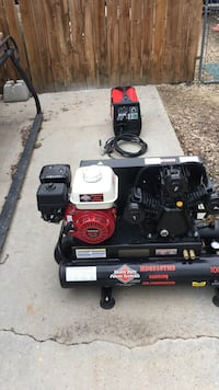 horizontal black Heavy Duty power systems gasoline air compressor