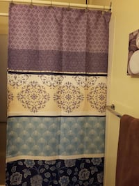purple, blue, and black floral shower curtain Abbotsford, V2T 6M9