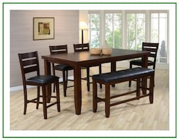 Counter Height Farmhouse Dining Set