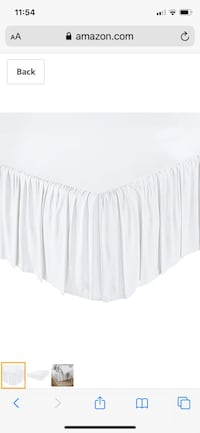 White bed skirt - brand new