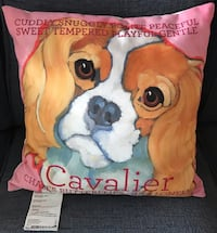 "NEW Cavalier King Charles Dog pillow ~ large 18""x18"" Jackson, 39211"