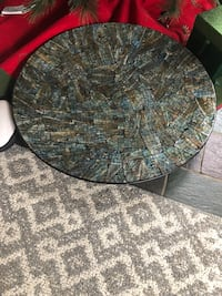 Pier 1 mosaic plate with iron stand 178 mi