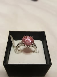 925 marked pink ring size 6