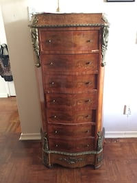 Antique french louis xv lingerie chest tall dresser