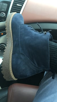 Navy blue all leather Zara shoes Falls Church, 22042