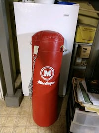 Red and White Punching Bag Chicago, 60631