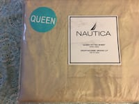 Brand New Nautica Queen Fitted Sheet 310 thread count - pickup in Aiea across old Toys r Us Aiea, 96701