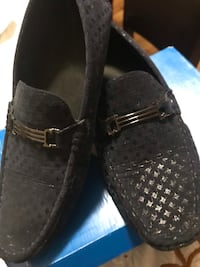 pair of brown leather loafers 2295 mi