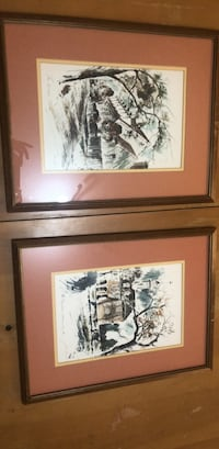 two white and brown wooden framed painting of trees Fairfax, 22033