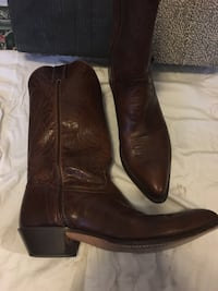 western  boots in chocolate 10m