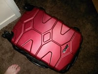 red and black jeep suitcase. 482 mi