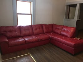 2 Piece Red Sectional