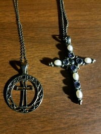 2 Silver  Cross  Necklaces  Virginia Beach, 23452