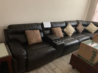 Real leather sectional Raleigh, 27617