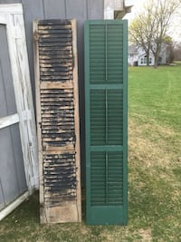 Four black/ green wooden shutters. Used on wedding as decoration. Janesville, 53545