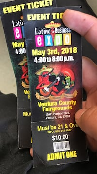 two Latino Business Expo tickets