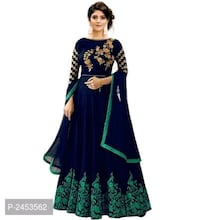 women's blue and green floral dress Ahmedabad, 380015