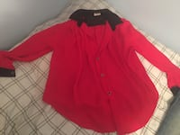 women's black and red button-up blouse Bridgeville, 15017
