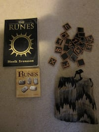Stained glass Runes stones & 2 books Kitchener, ON N2E 4C7, Canada