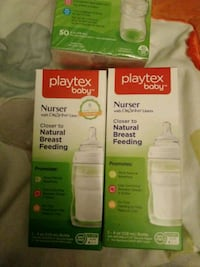Playtex Nurser bottle with drop ins , closer to natural breast feeding