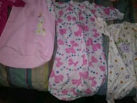 baby's two pink and white footie pajamas Evansville, 47714