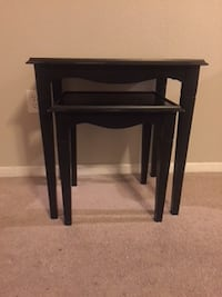 black wooden 3-nesting tables LOUISVILLE