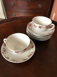 Fine china- tea cups and saucers