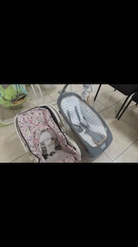 White and pink baby car seat 15 each  2271 mi