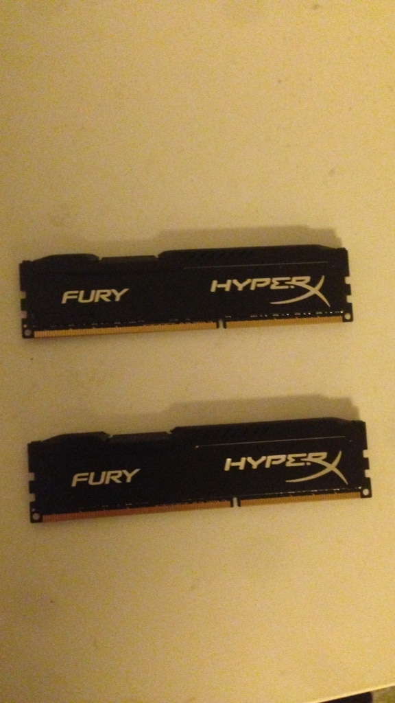 Hyper X fury ddr3 minne 2x 8gb