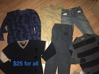 Boys clothes age 10-12 lot for $25 North Vancouver, V7K 2H4