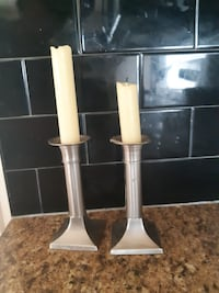 Candle holders with Candles ( Airdrie)
