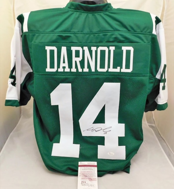Sam Darnold Signed Authentic Style Jets Jersey JSA COA 2a1989a61