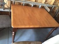 rectangular brown wooden table with chairs Burton, 48529